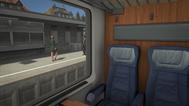 Interior Passenger View of the Avmz First Class Compartment Vehicle