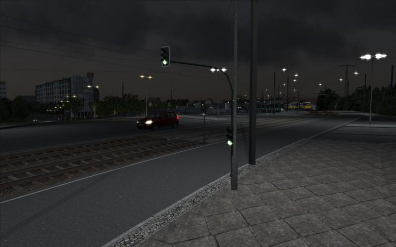 Blick von der Berliner in die Mockauer Straße