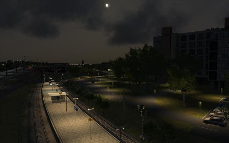 Hp Leipzig Nord bei Nacht