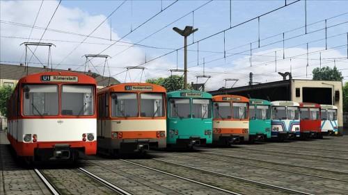 Duewag U2 und Duewag Ptb tram