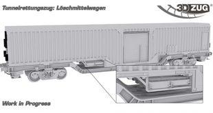 Tunnelrettungszug: Löschmittelwagen