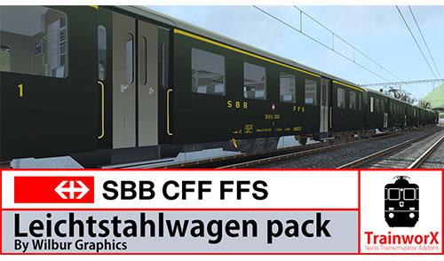 [TrainworX/Wilbur Graphics] SBB CFF FFS Leichtstahlwagen Pack by Wilbur Graphics (v1.0) erhältlich!