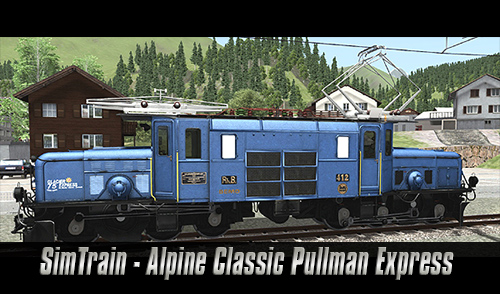 [SimTrain] Alpine Classic Pullman Express – RhB 6/6 I 412 Blaues Krokodil