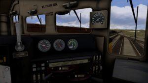 Führerstand der EMD GP38-2