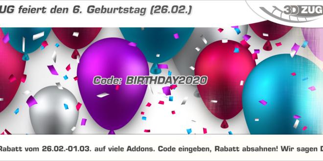 [3DZUG] feiert den 6. Geburtstag!