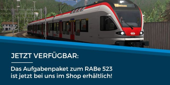 [JTG] SBB RABe 523 Aufgabenpaket erhältlich!