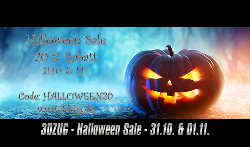 [3DZUG] Halloween Sale am 31.10. & 01.11.2020
